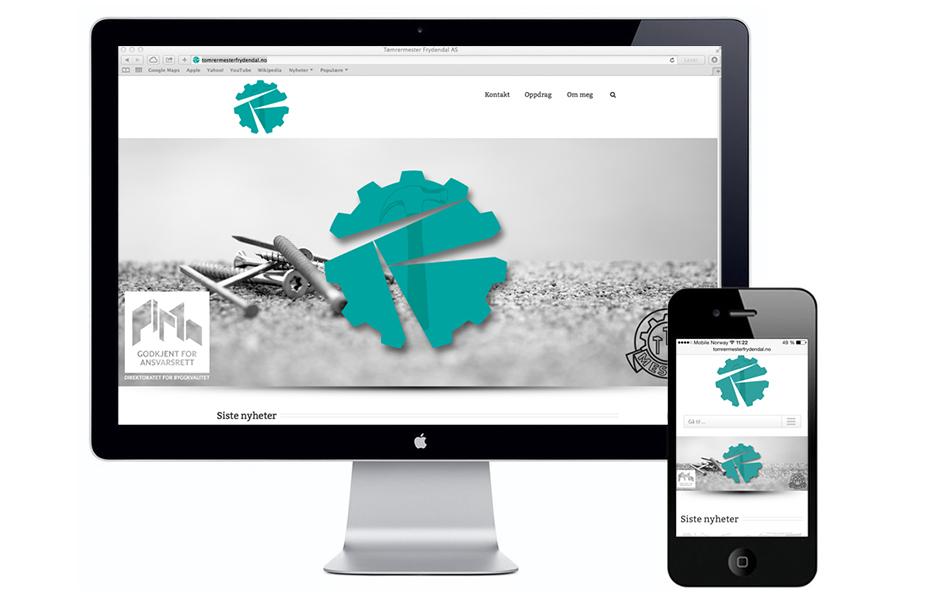 Design av webside tomrermesterfrydendal.no