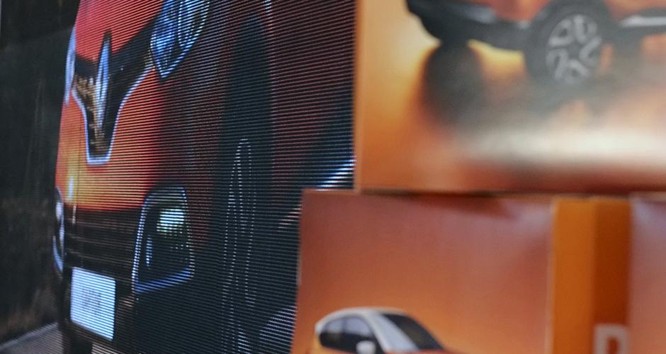 Detaljer kuer og LED-storskjerm