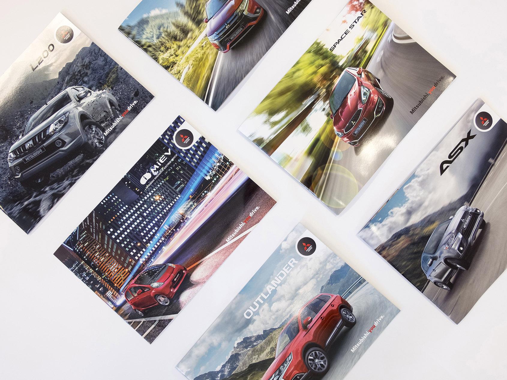 Design og trykk av Mitsubishi magasiner